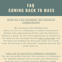 Returning to Mass Frequently Asked Question's  photo album